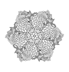 Round element for coloring book vector