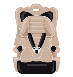 Brown child car seat vector