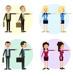 Funny business characters of men and women vector