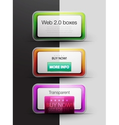 Colorful web 20 boxes vector image