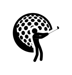 ball golf sport design vector image