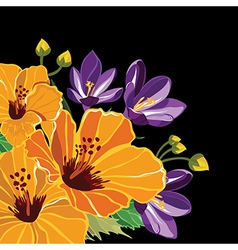 Beautiful floral pattern hand-drawing vector