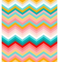 Beige pink red and turquoise chevron seamless vector image vector image