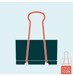 Binder clip icon vector image vector image