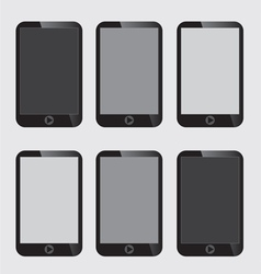 Blank screen smart phone vector