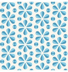 blue floral seamless pattern origami style vector image