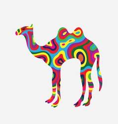 Camel colorfully vector