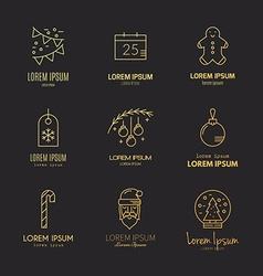 Christmas Logos vector image
