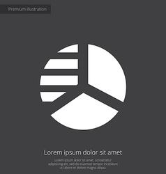 Circle diagram premium icon white on dark backgrou vector