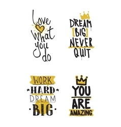 Color inspirational set vector image vector image