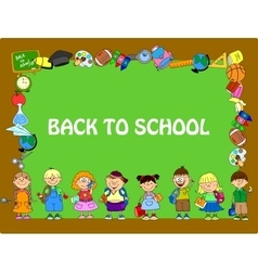 Cute Back to School Frame vector image vector image