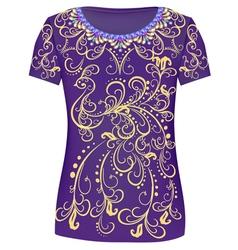 Design T-Shirts Print a fashionable ornament vector image