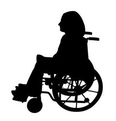 disabled person in wheelchair vector image vector image
