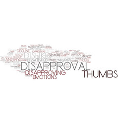 disapproval word cloud concept vector image vector image