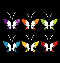 Face of a lady and butterfly vector image