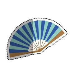 fashion hand fan vector image