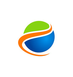 Globe round earth ecology logo vector
