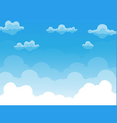 Group of clouds on blue sky vector