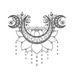 Hand drawn tattoo design vector