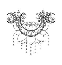 hand drawn tattoo design vector image vector image
