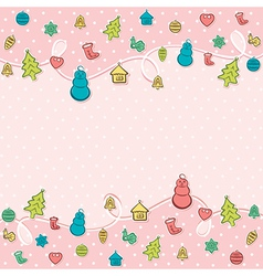 Merry christmas object icon background design vector