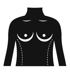 Plastic surgery of torso icon simple style vector