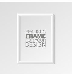 Realistic white horizontal frame for paintings vector