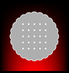 round biscuit vector image