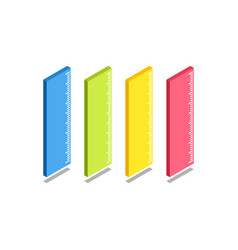 ruler icon symbol vector image vector image