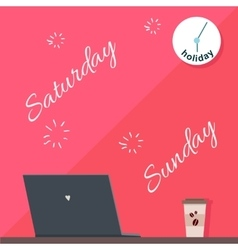 Saturday and sunday holiday official day off vector