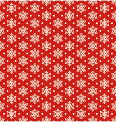 Seamless Christmas Winter Pattern with Snowflakes vector image