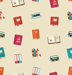 Seamless pattern of colorful textbooks vector