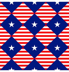 Stars stripe usa flag diamond chessboard vector