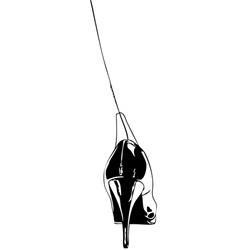 Stiletto heels graphic arts vector