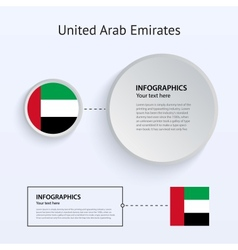 United Arab Emirates Country Set of Banners vector image