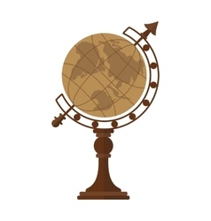 vintage desktop globe vector image vector image