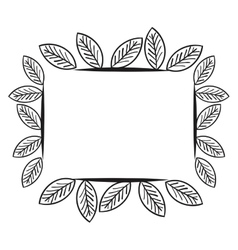 wreath leafs crown icon vector image vector image
