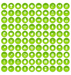 100 viral marketing icons set green circle vector