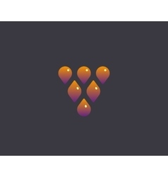 Abstract drop leaf logo symbol icon wine vector