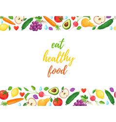 Eat healthy food vector