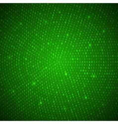 Abstract Green Binary Background vector image