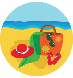 vacation and holiday at beach vector image
