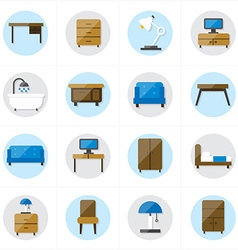 Flat icons for furniture icons vector