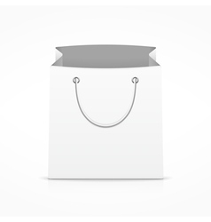 White shopping bag vector