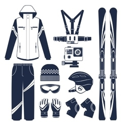 Skiing extreme winter sports vector