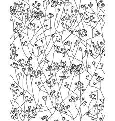 Seamless floral pattern flowers of gypsophila vector