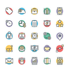 Business cool icons 2 vector