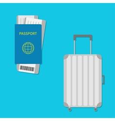 Passport air boarding pass ticket with barcode vector