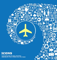 Airplane sign symbol nice set of beautiful icons vector