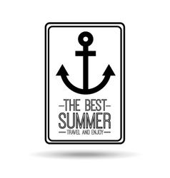 anchor card best summer travel and enjoy vector image vector image